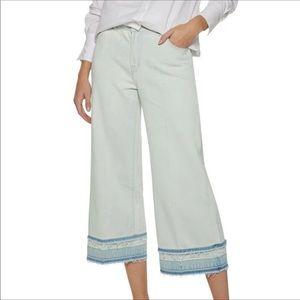 J BRAND Liza Ecstasy Wide Leg Culottes Crop Jeans